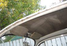 Sagging roof lining cause